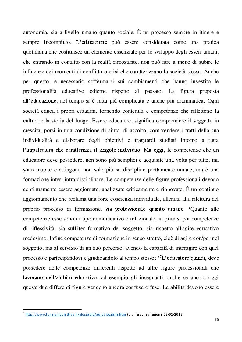 Anteprima della tesi: Il metodo autobiografico come strumento per la ri-progettazione esistenziale, Pagina 7