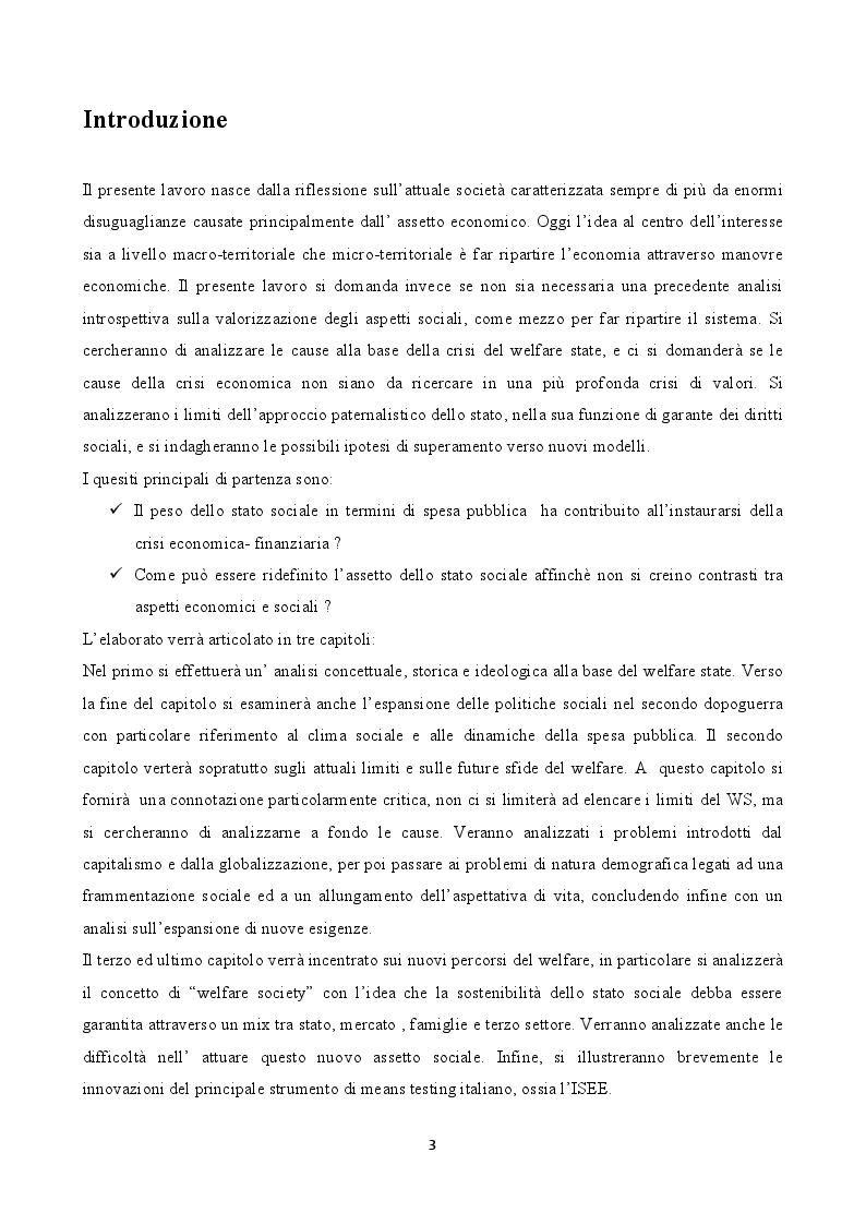 Anteprima della tesi: Welfare State: Correlazioni con la crisi economico-finanziaria e nuove strategie di politica sociale, Pagina 2
