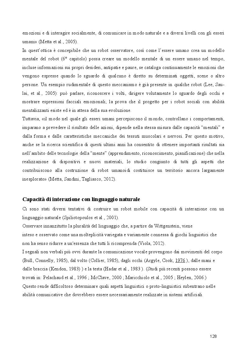 Anteprima della tesi: Dal cognitivismo alla robotica: la teoria della mente nell'interazione uomo-robot in una prospettiva evoluzionistica e in relazione alla teoria della complessità, Pagina 10