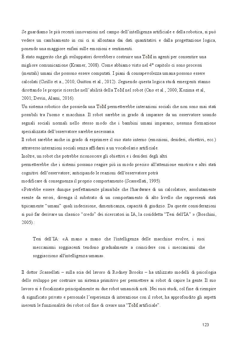 Anteprima della tesi: Dal cognitivismo alla robotica: la teoria della mente nell'interazione uomo-robot in una prospettiva evoluzionistica e in relazione alla teoria della complessità, Pagina 5