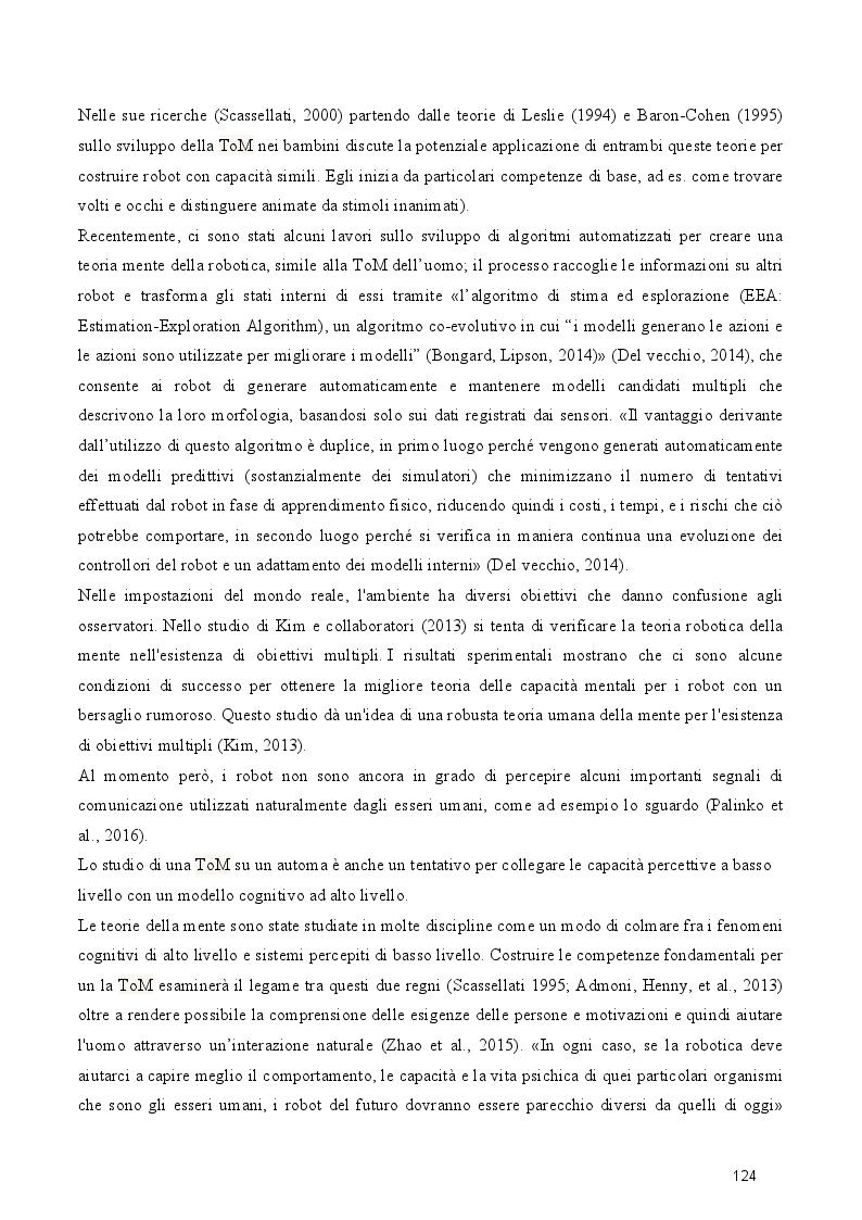 Anteprima della tesi: Dal cognitivismo alla robotica: la teoria della mente nell'interazione uomo-robot in una prospettiva evoluzionistica e in relazione alla teoria della complessità, Pagina 6