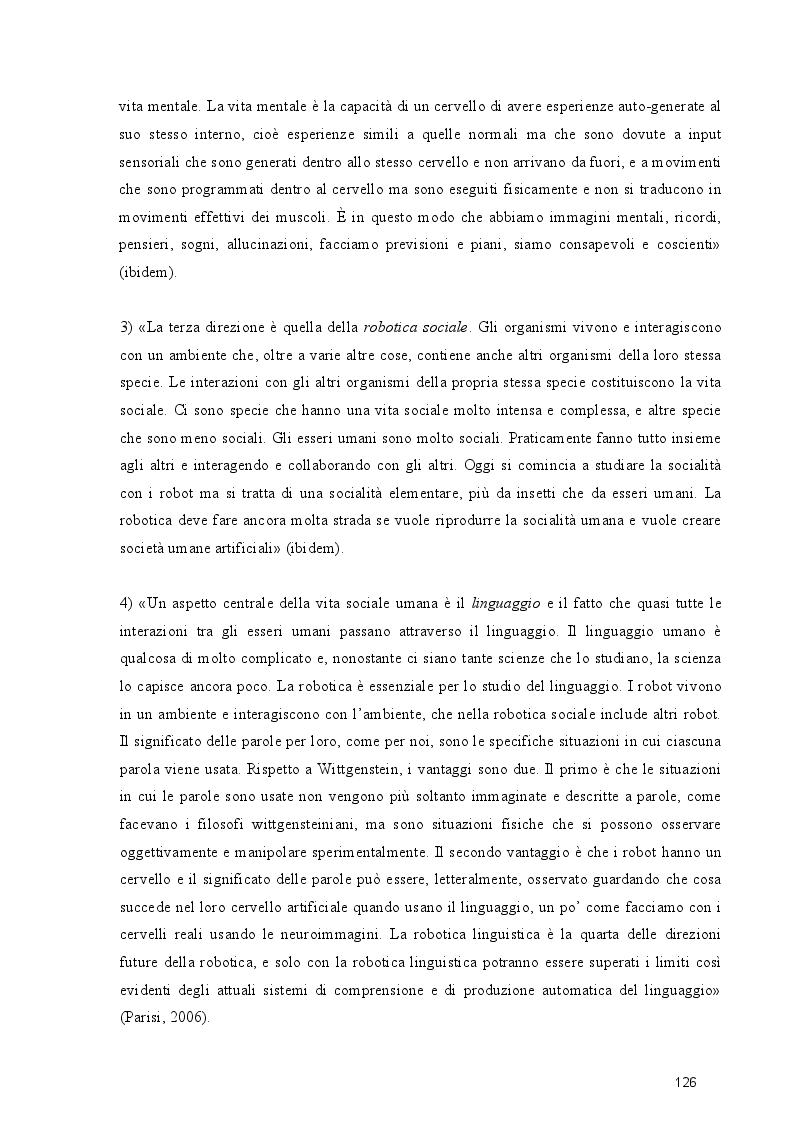 Anteprima della tesi: Dal cognitivismo alla robotica: la teoria della mente nell'interazione uomo-robot in una prospettiva evoluzionistica e in relazione alla teoria della complessità, Pagina 8