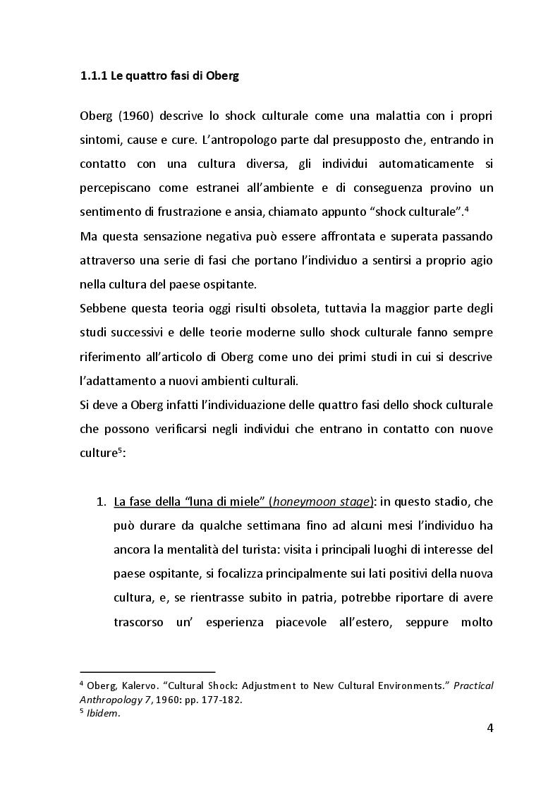 Anteprima della tesi: Lo shock culturale. Integrarsi in nuove culture. Uno sguardo sul contesto cinese., Pagina 5