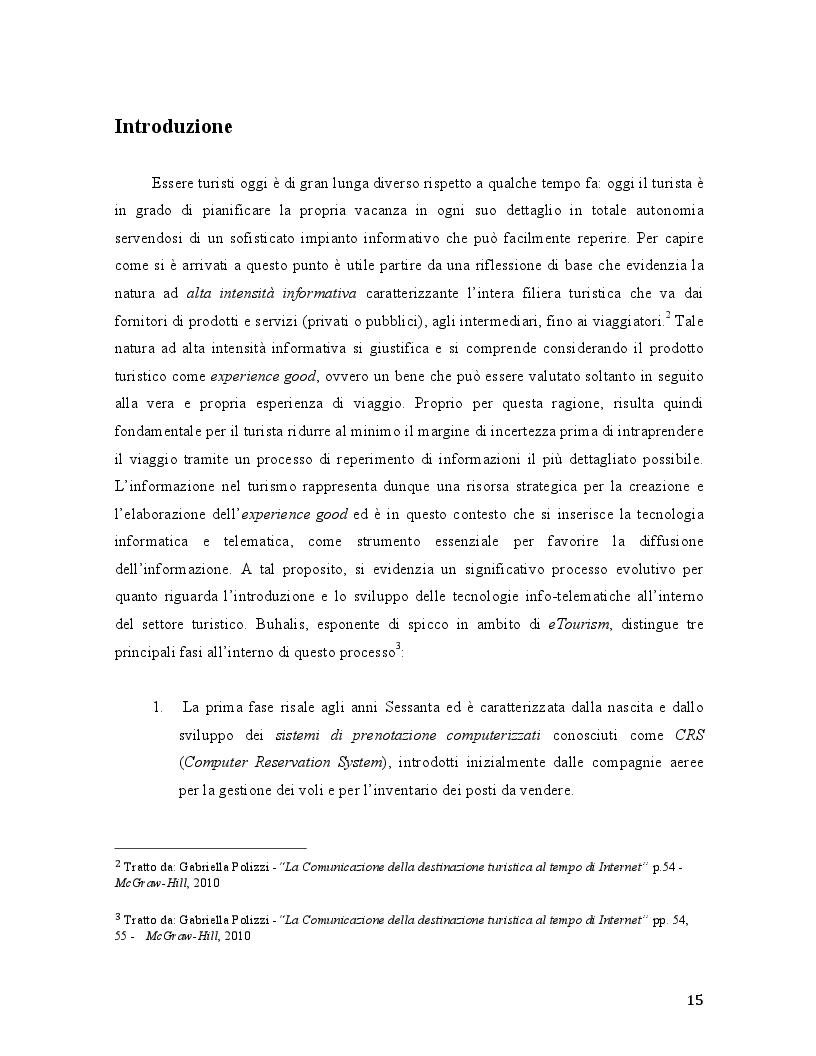 Anteprima della tesi: Travel 2.0: Di che cosa parlano gli utenti in rete? La Web Reputation ed il caso TripAdvisor, Pagina 3