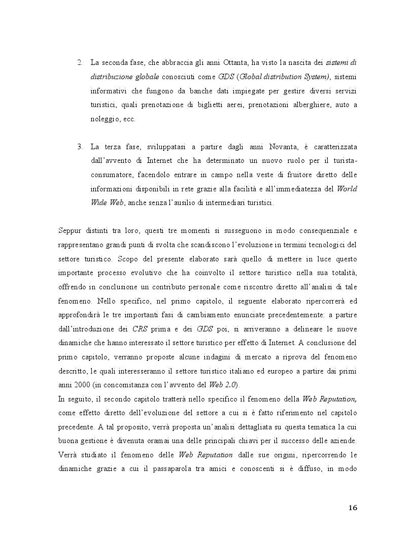 Anteprima della tesi: Travel 2.0: Di che cosa parlano gli utenti in rete? La Web Reputation ed il caso TripAdvisor, Pagina 4