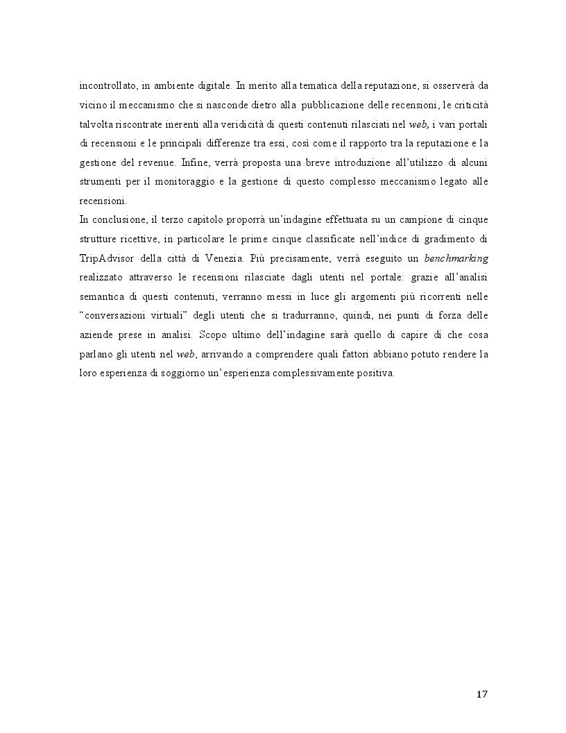 Anteprima della tesi: Travel 2.0: Di che cosa parlano gli utenti in rete? La Web Reputation ed il caso TripAdvisor, Pagina 5