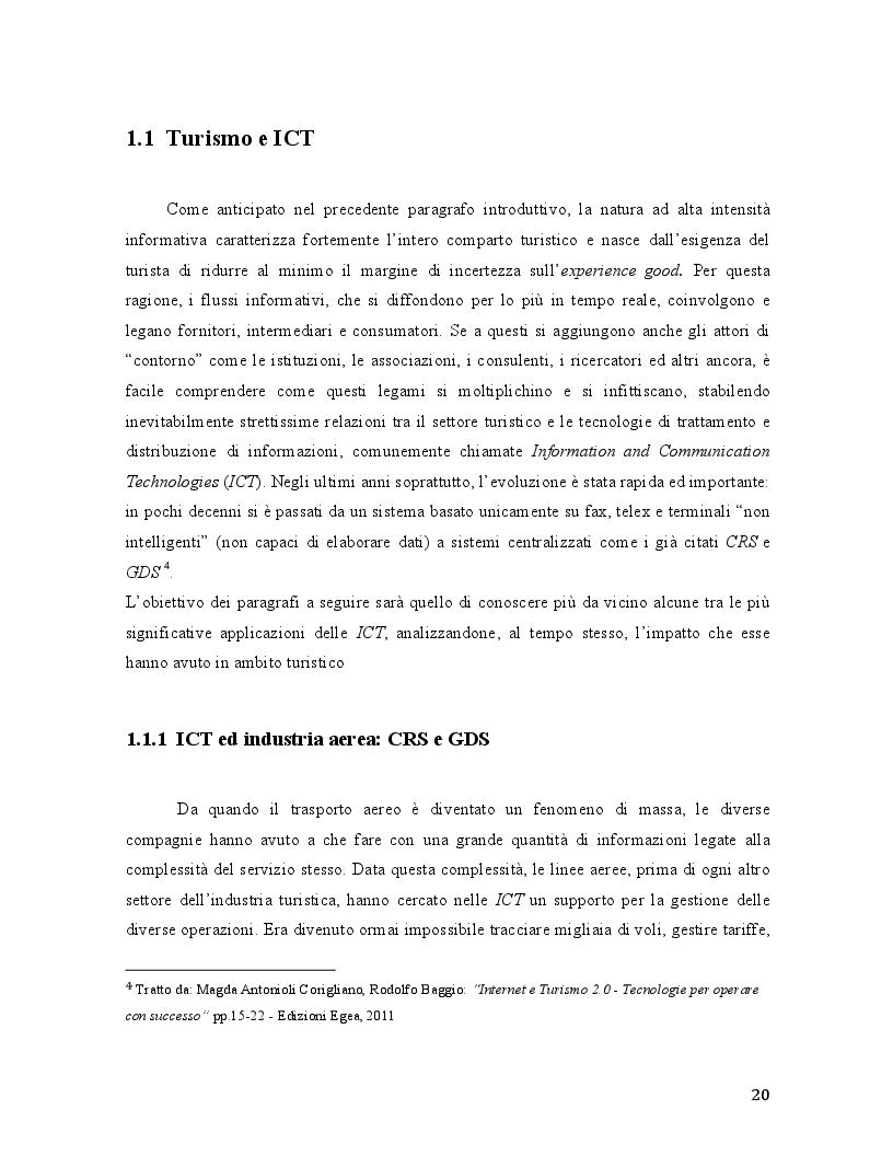 Anteprima della tesi: Travel 2.0: Di che cosa parlano gli utenti in rete? La Web Reputation ed il caso TripAdvisor, Pagina 6