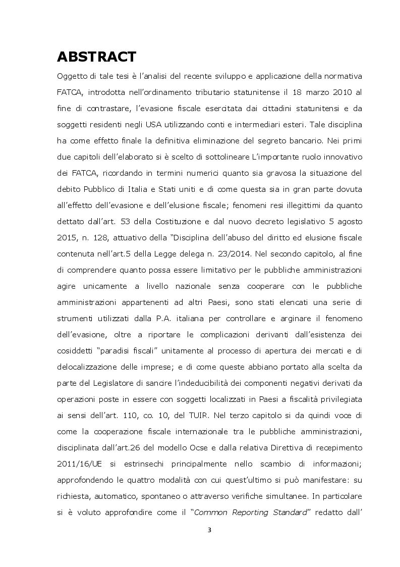Anteprima della tesi: La lotta contro l'evasione e l'elusione fiscale internazionale tramite i FATCA, Pagina 2