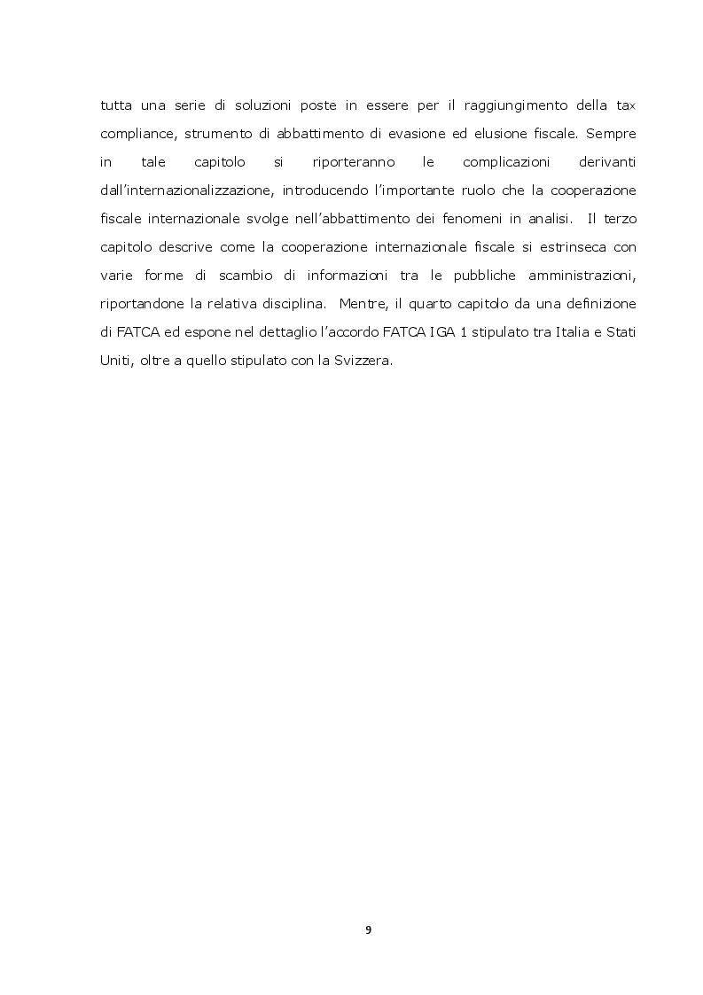Anteprima della tesi: La lotta contro l'evasione e l'elusione fiscale internazionale tramite i FATCA, Pagina 8
