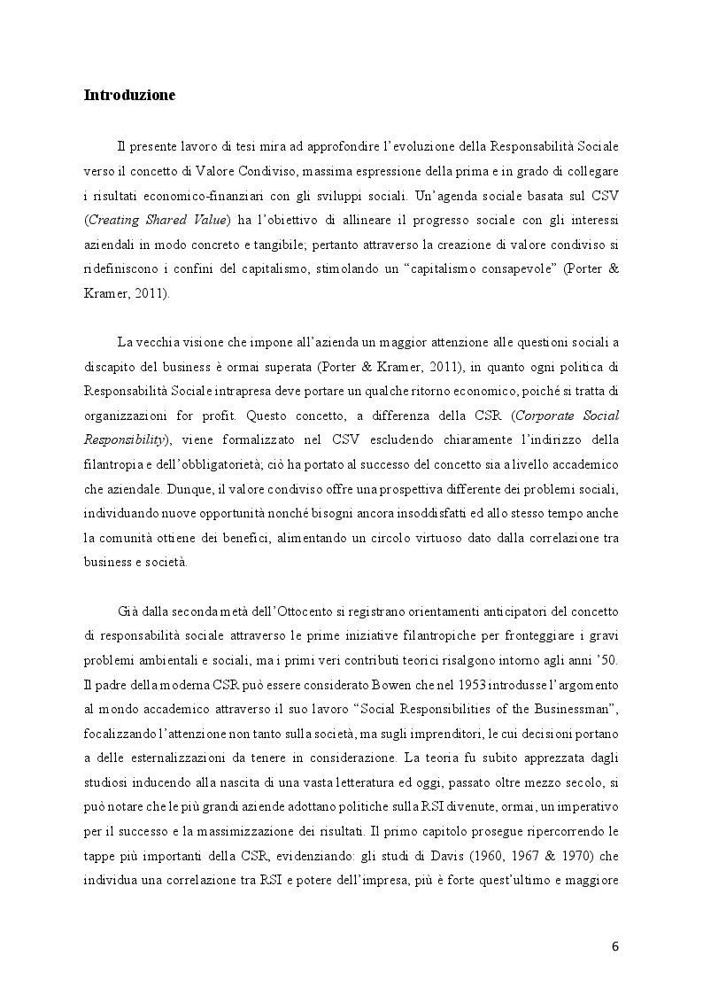 Anteprima della tesi: L'evoluzione della Responsabilità Sociale verso il Valore Condiviso: il caso Telecom, Pagina 2