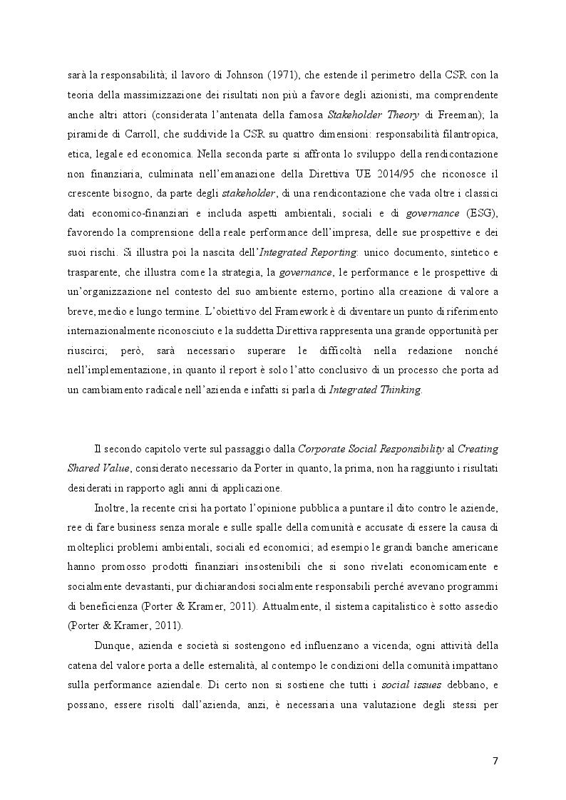 Anteprima della tesi: L'evoluzione della Responsabilità Sociale verso il Valore Condiviso: il caso Telecom, Pagina 3