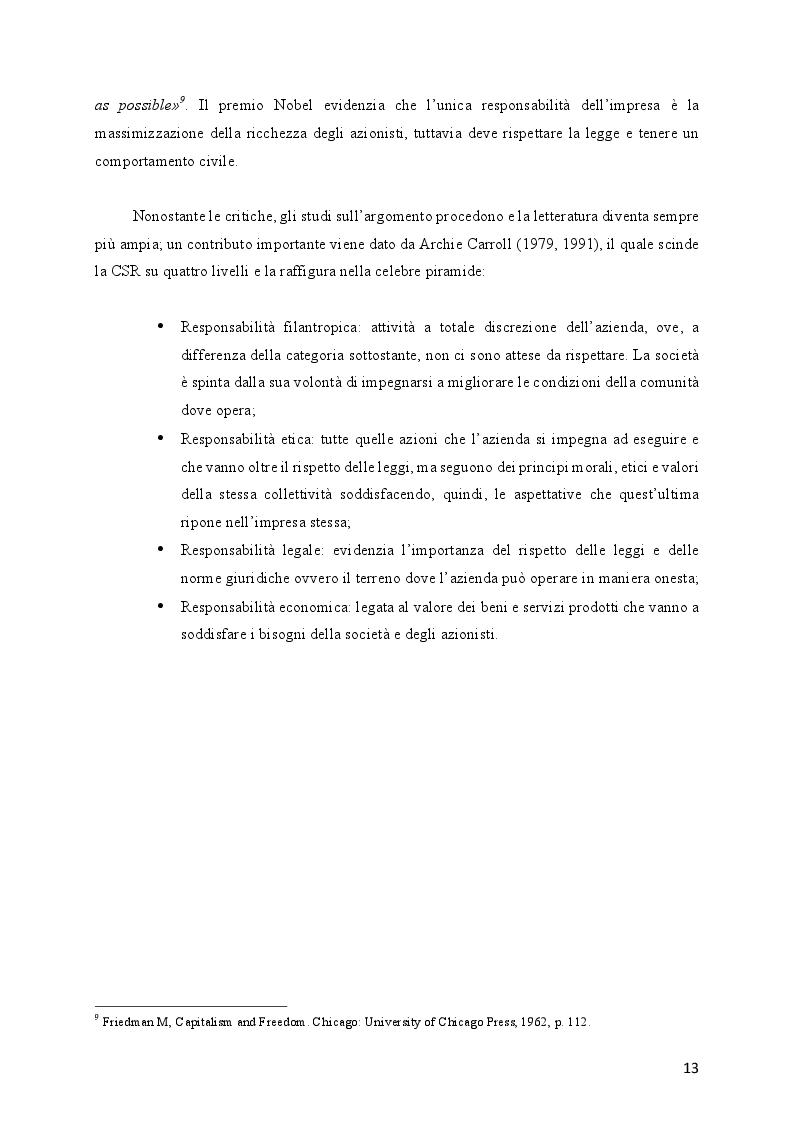 Anteprima della tesi: L'evoluzione della Responsabilità Sociale verso il Valore Condiviso: il caso Telecom, Pagina 9