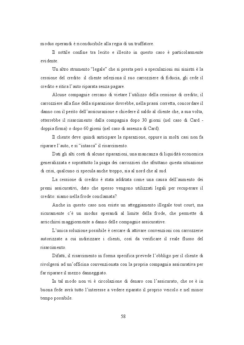 Anteprima della tesi: La frode Rca in Italia. Un'analisi dei modus operandi e delle possibili misure preventive, Pagina 7