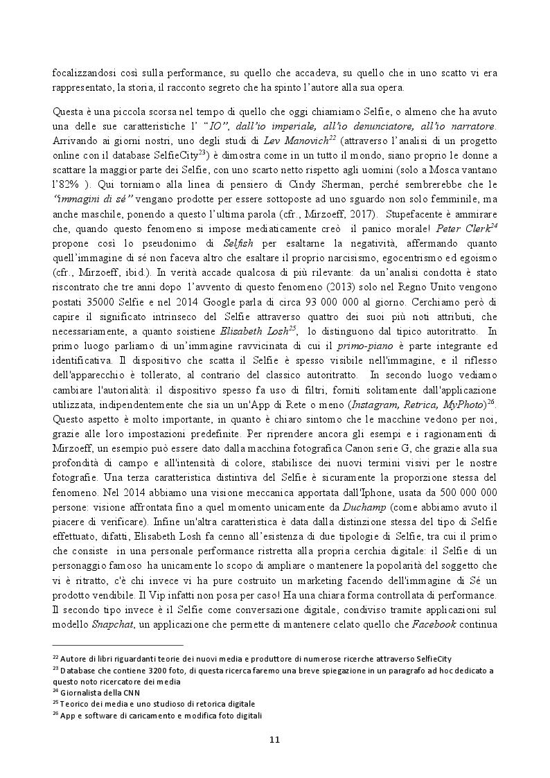 Estratto dalla tesi: Il Selfie: strutture e dinamiche psico-sociali. Il paradosso comunicativo dell'immagine dell'io
