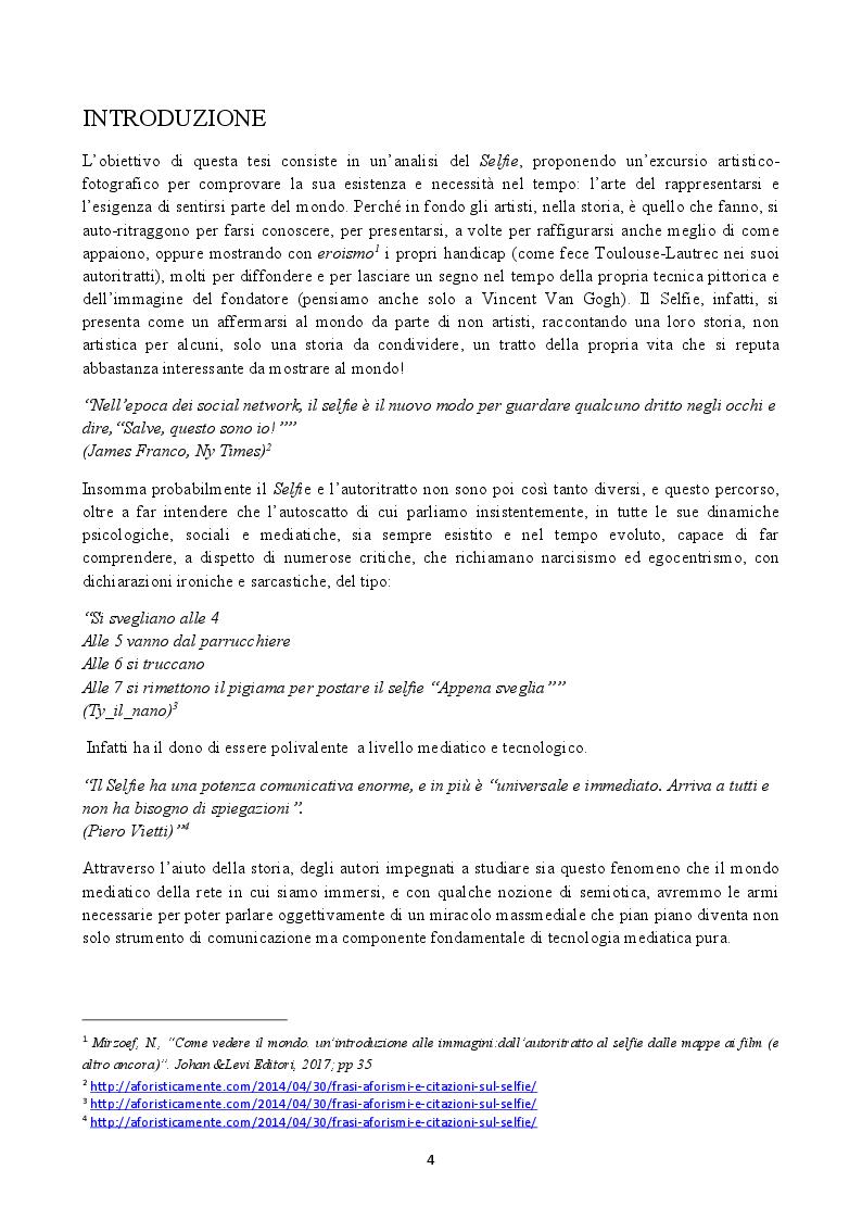 Anteprima della tesi: Il Selfie: strutture e dinamiche psico-sociali. Il paradosso comunicativo dell'immagine dell'io, Pagina 2