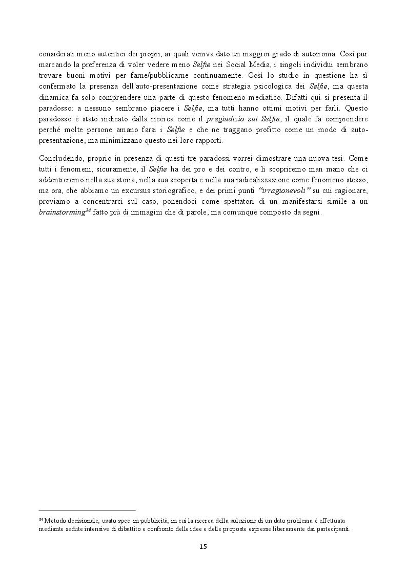 Anteprima della tesi: Il Selfie: strutture e dinamiche psico-sociali. Il paradosso comunicativo dell'immagine dell'io, Pagina 5