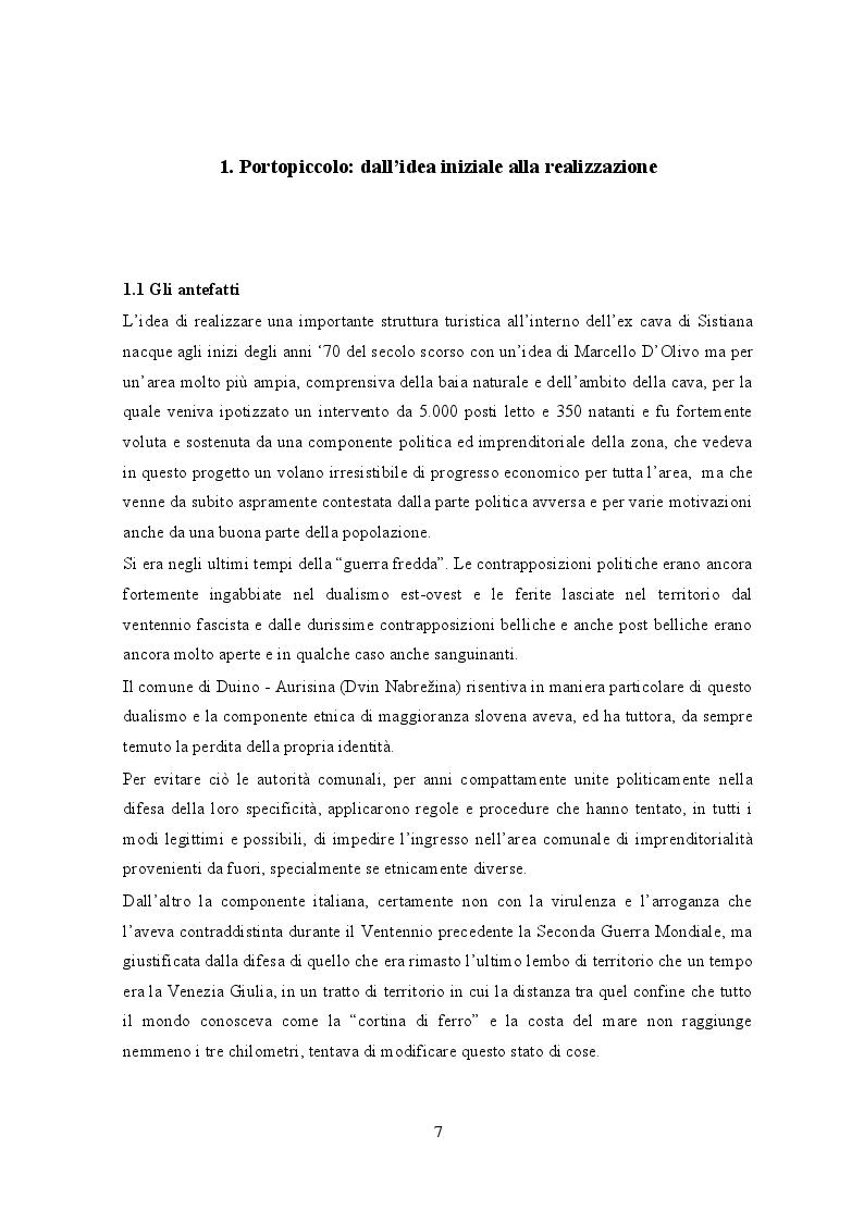 Anteprima della tesi: Portopiccolo: una nuova opportunità turistica per il Nord-Adriatico, Pagina 6