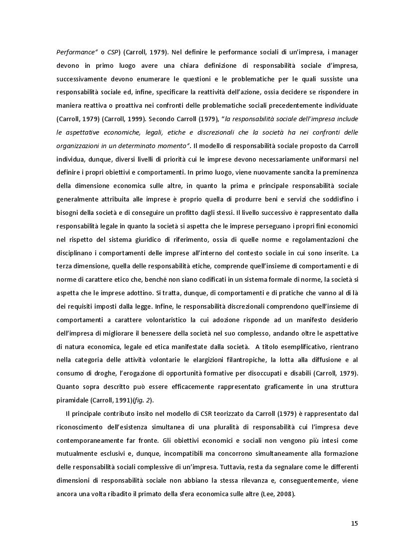 Estratto dalla tesi: Corporate Social Responsibility: Implicazioni Strategiche ed Impatto sulle Performance Aziendali