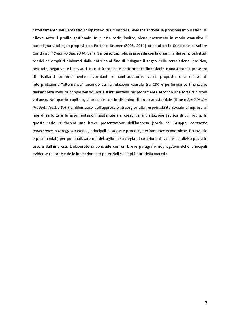 Anteprima della tesi: Corporate Social Responsibility: Implicazioni Strategiche ed Impatto sulle Performance Aziendali, Pagina 4