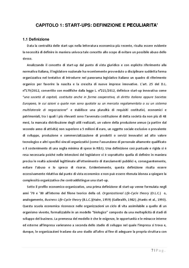 Anteprima della tesi: La governance nelle start-up: dinamiche di potere e controllo tra imprenditori, fornitori e finanziatori, Pagina 4