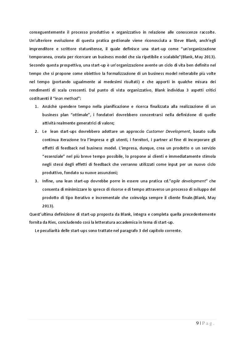 Anteprima della tesi: La governance nelle start-up: dinamiche di potere e controllo tra imprenditori, fornitori e finanziatori, Pagina 6