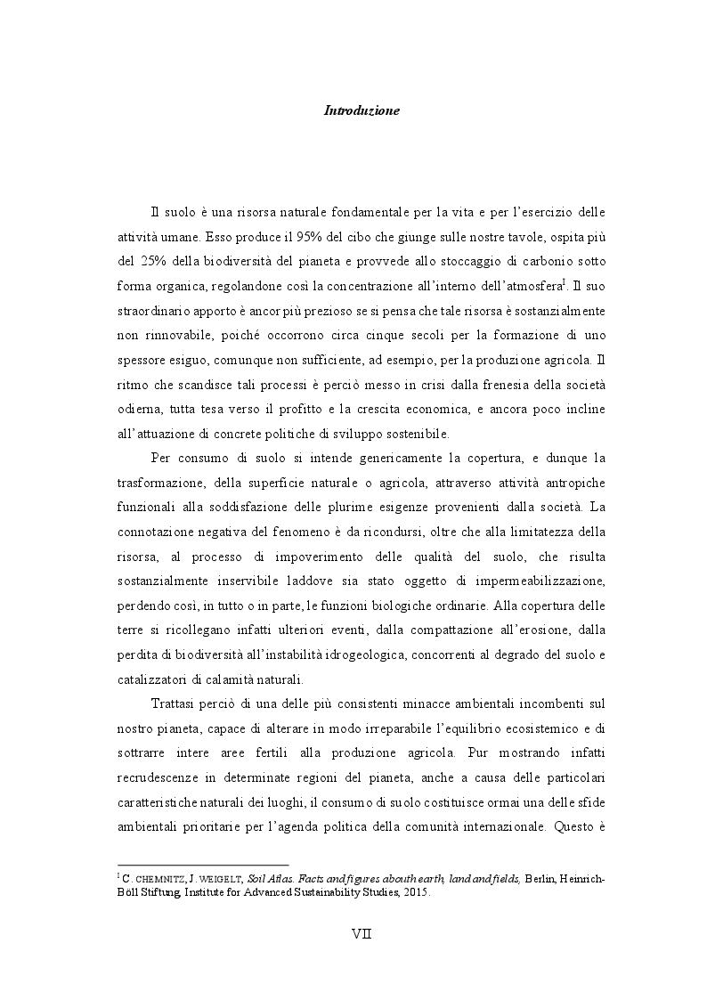 Anteprima della tesi: La disciplina giuridica del consumo di suolo, Pagina 2