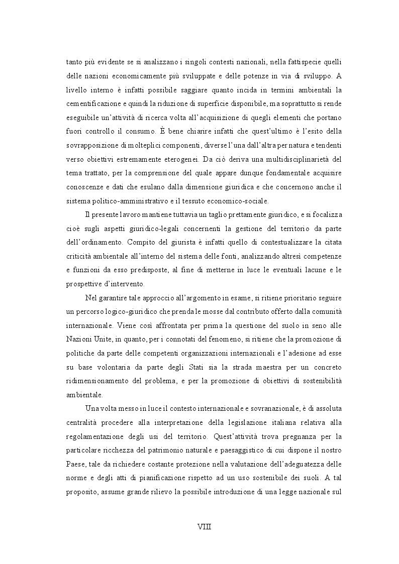 Anteprima della tesi: La disciplina giuridica del consumo di suolo, Pagina 3