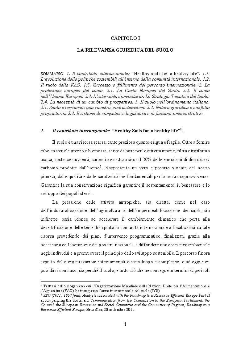 Anteprima della tesi: La disciplina giuridica del consumo di suolo, Pagina 5