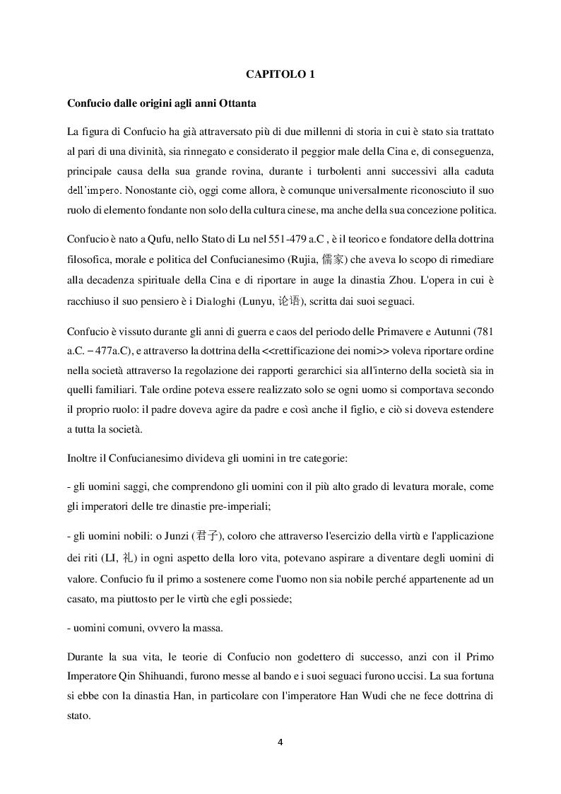 Anteprima della tesi: Democrazia Confuciana: la proposta di Jiang Qing, Pagina 4