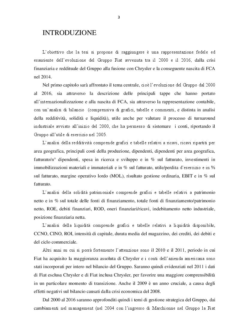 Anteprima della tesi: L'evoluzione del Gruppo Fiat dal 2000 al 2016: dalla crisi alla fusione con Chrysler, Pagina 2