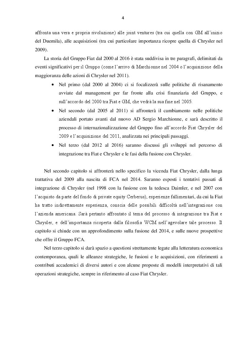 Anteprima della tesi: L'evoluzione del Gruppo Fiat dal 2000 al 2016: dalla crisi alla fusione con Chrysler, Pagina 3