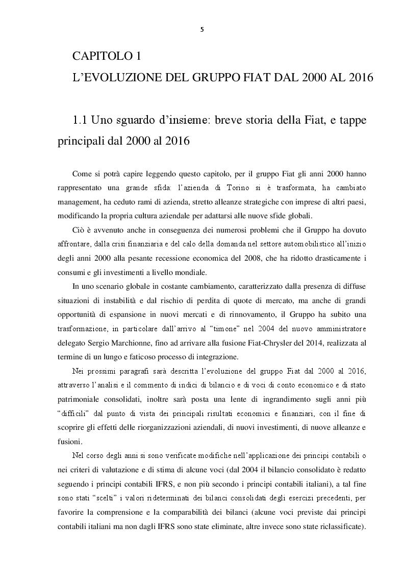 Anteprima della tesi: L'evoluzione del Gruppo Fiat dal 2000 al 2016: dalla crisi alla fusione con Chrysler, Pagina 4