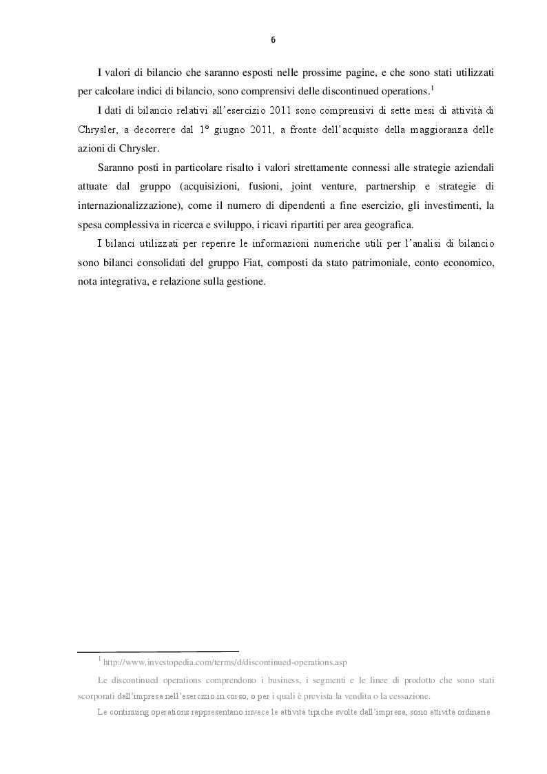 Anteprima della tesi: L'evoluzione del Gruppo Fiat dal 2000 al 2016: dalla crisi alla fusione con Chrysler, Pagina 5
