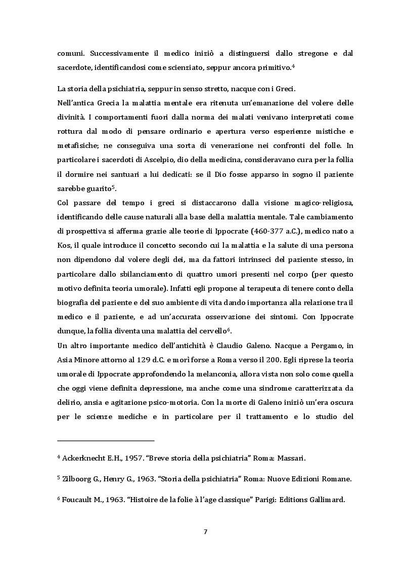 Anteprima della tesi: Dalla chiusura dei manicomi ai giorni nostri. Il ruolo dell'educatore all'interno di una RSD, Pagina 4