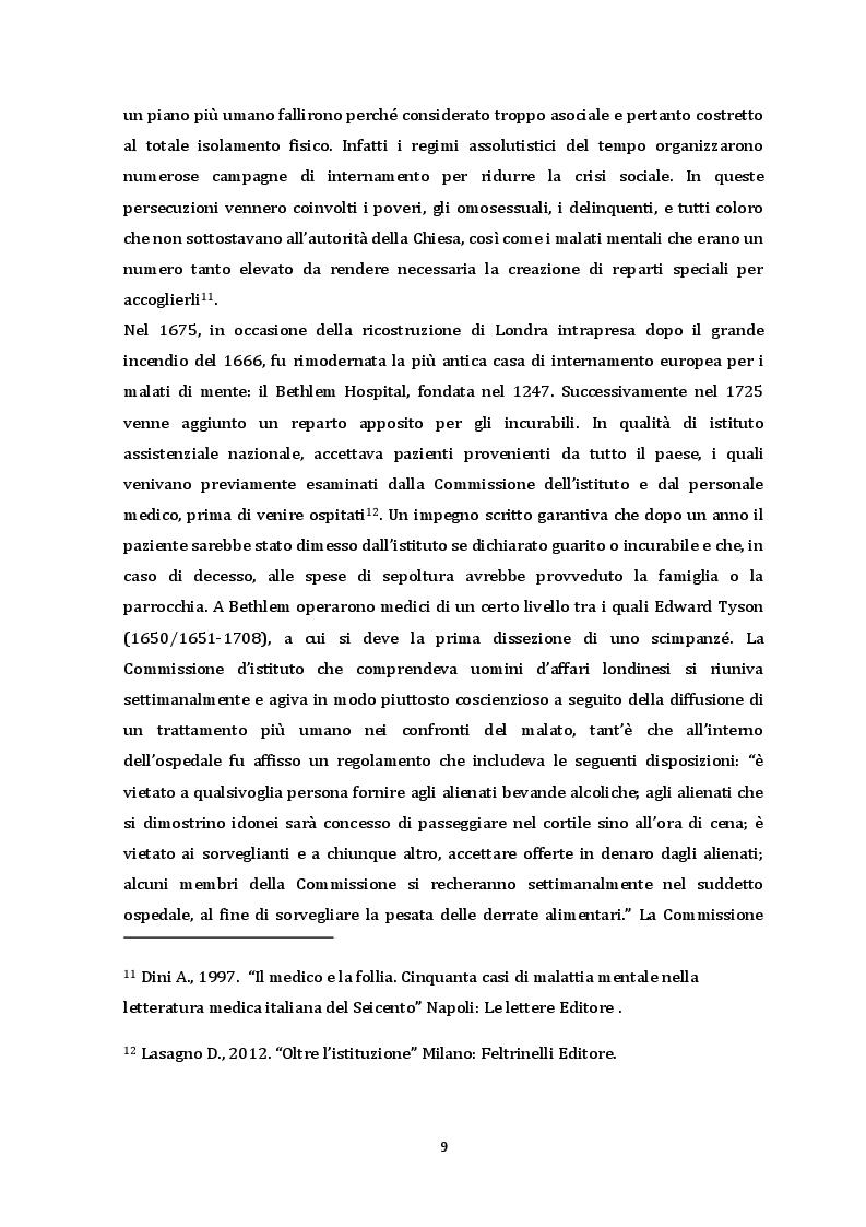 Anteprima della tesi: Dalla chiusura dei manicomi ai giorni nostri. Il ruolo dell'educatore all'interno di una RSD, Pagina 6