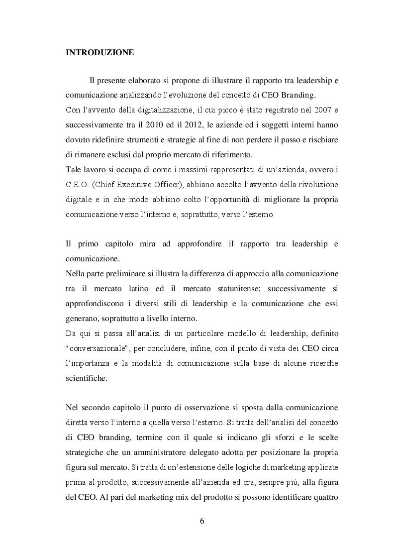 Anteprima della tesi: La figura dei CEO e la comunicazione lo sviluppo del concetto di CEO branding: reputazione e personalità, Pagina 2