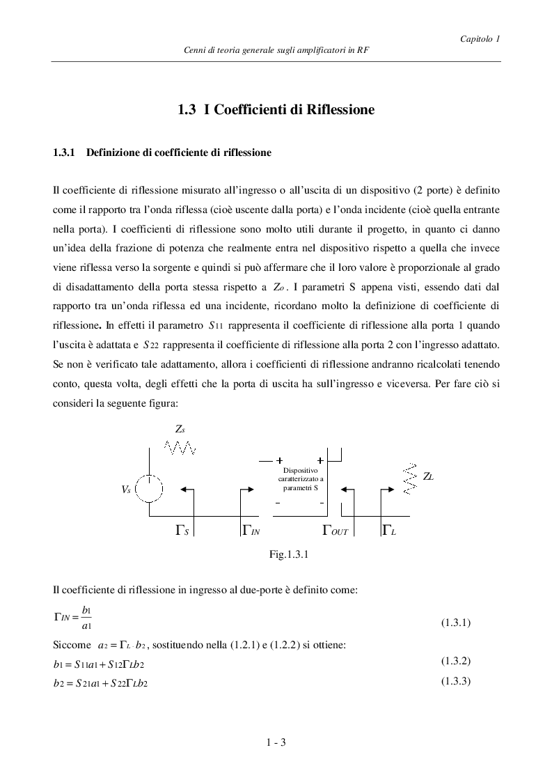 Anteprima della tesi: Progetto ed Analisi di un Amplificatore a Basso Rumore con Lossless Feedback, Pagina 6