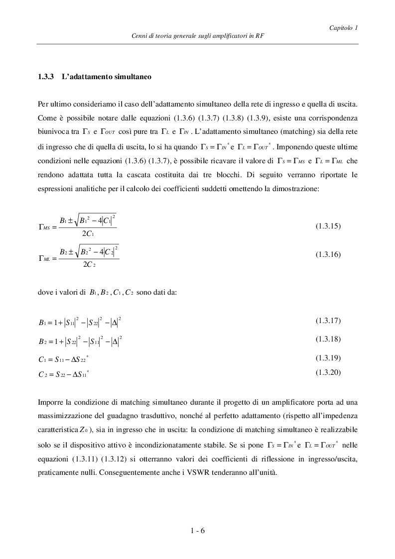 Anteprima della tesi: Progetto ed Analisi di un Amplificatore a Basso Rumore con Lossless Feedback, Pagina 9