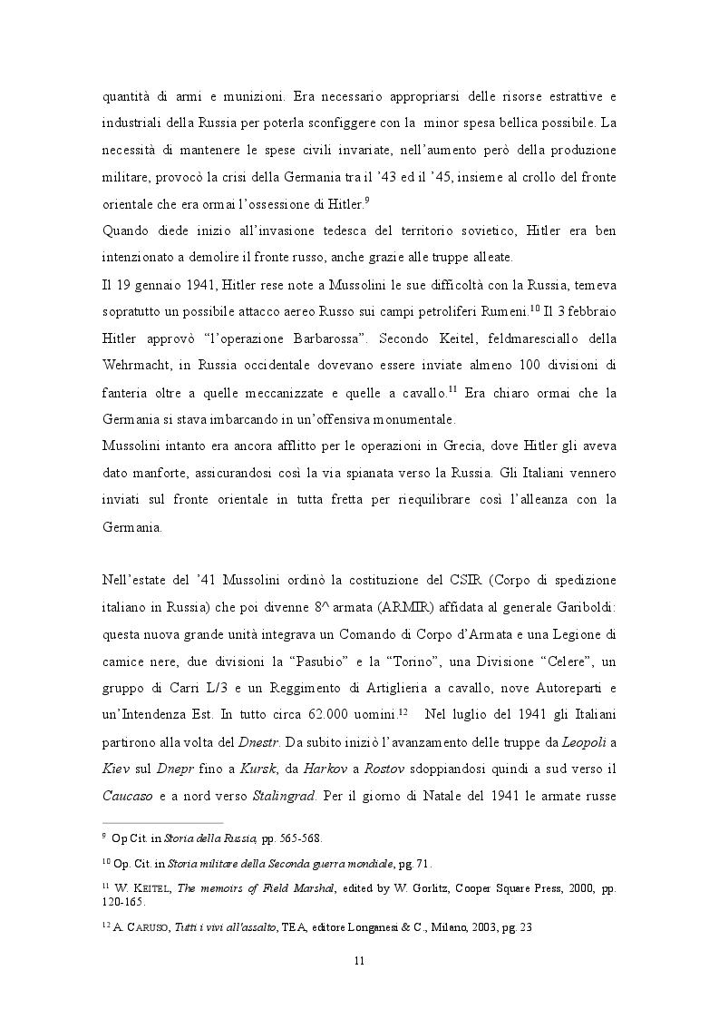 Estratto dalla tesi: GENNAIO 1943: La ritirata degli alpini di Russia nelle memorie di un testimone