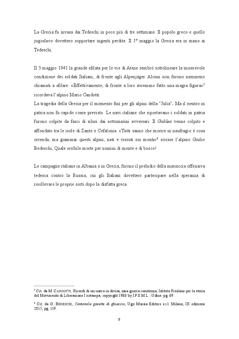 Anteprima della tesi: GENNAIO 1943: La ritirata degli alpini di Russia nelle memorie di un testimone, Pagina 7