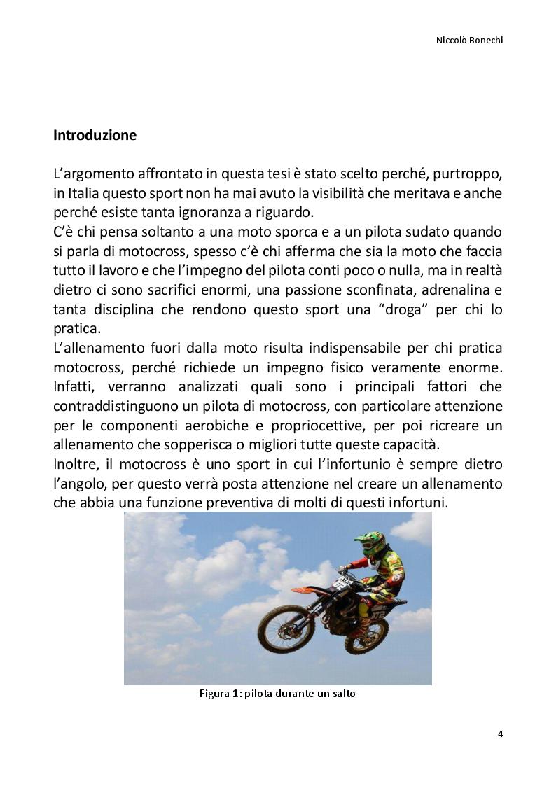 Anteprima della tesi: La preparazione fisico atletica nel motocross, Pagina 2