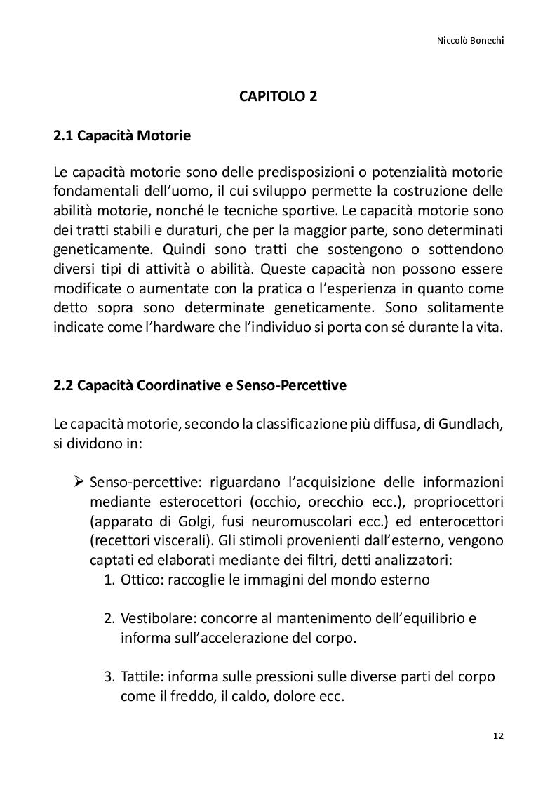Anteprima della tesi: La preparazione fisico atletica nel motocross, Pagina 3