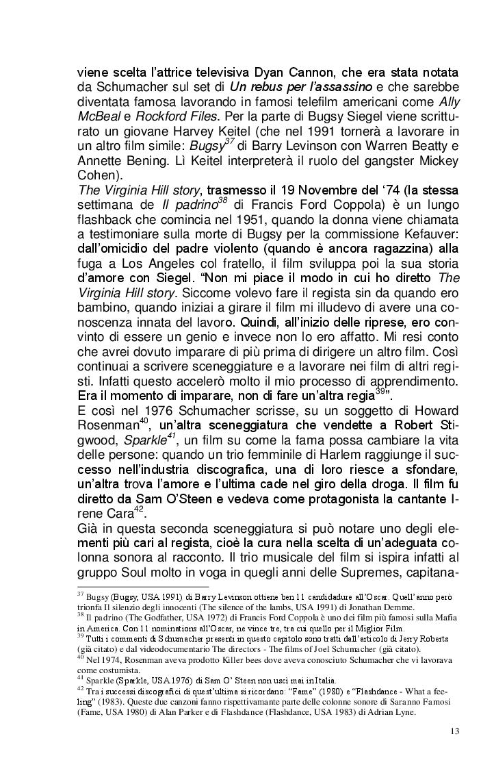Estratto dalla tesi: Joel Schumacher: Un Regista, Mille Storie