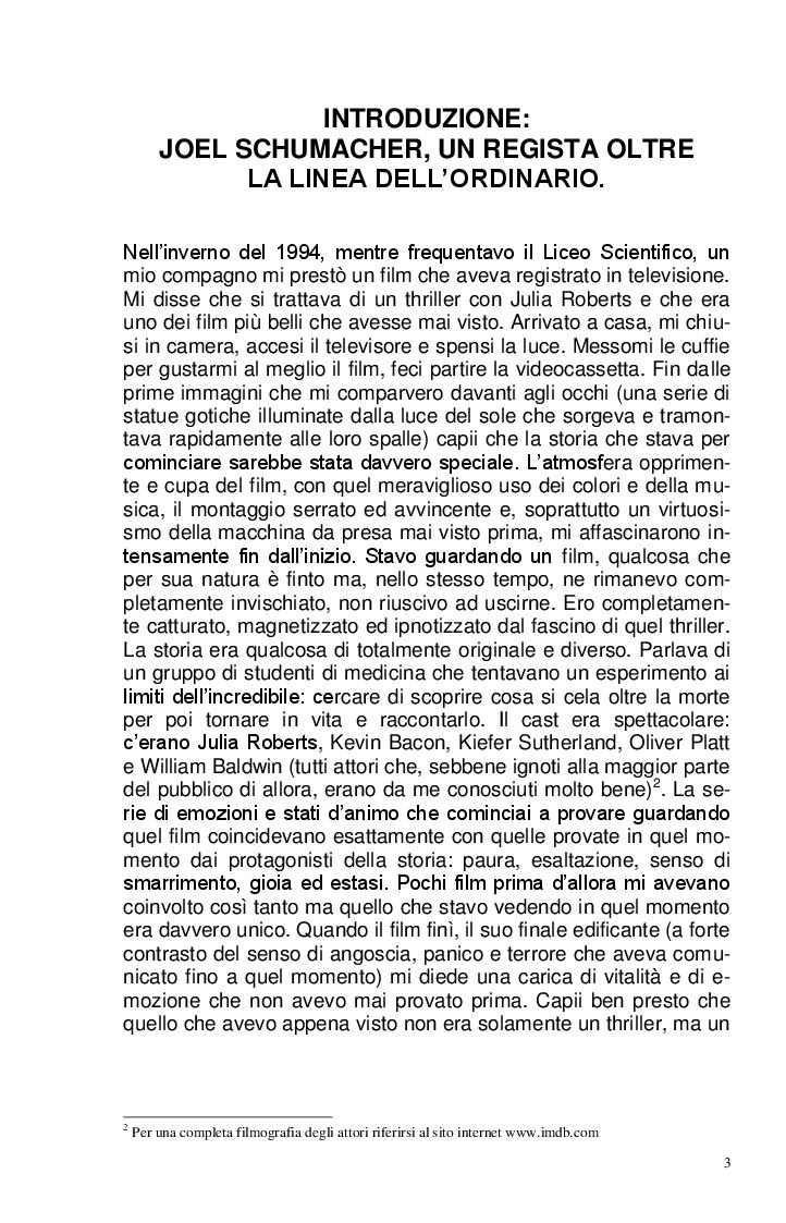 Anteprima della tesi: Joel Schumacher: Un Regista, Mille Storie, Pagina 3