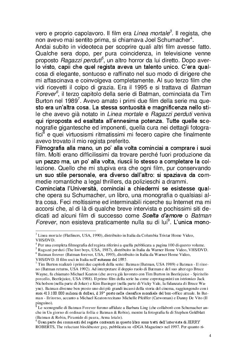 Anteprima della tesi: Joel Schumacher: Un Regista, Mille Storie, Pagina 4