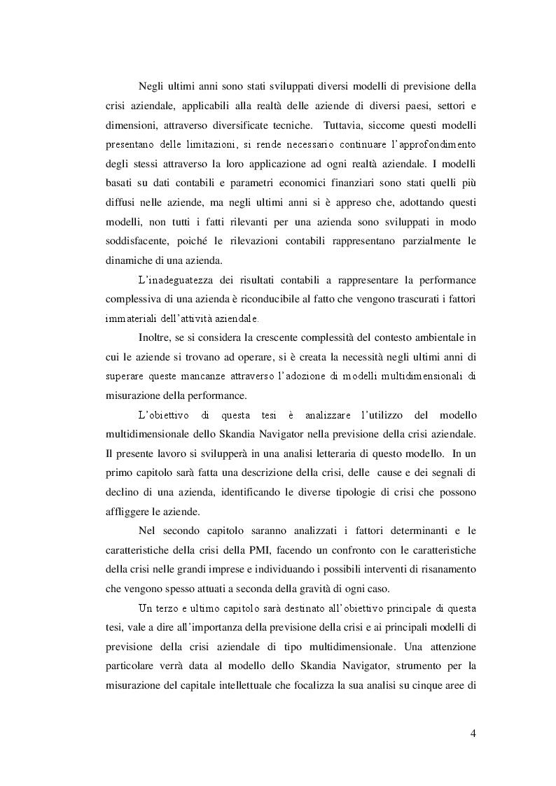 Anteprima della tesi: Lo Skandia Navigator per la previsione della crisi aziendale, Pagina 3