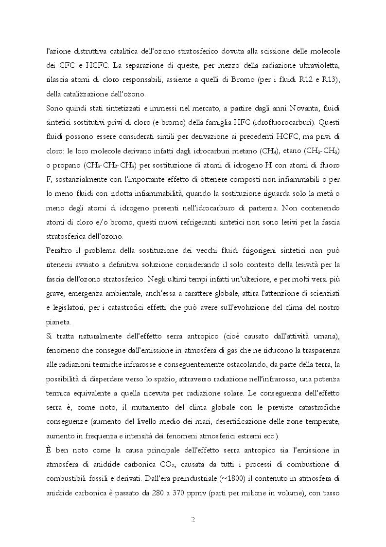 Anteprima della tesi: Analisi teorica e sperimentale di una pompa di calore ad anidride carbonica per asciugatrici domestiche, Pagina 3