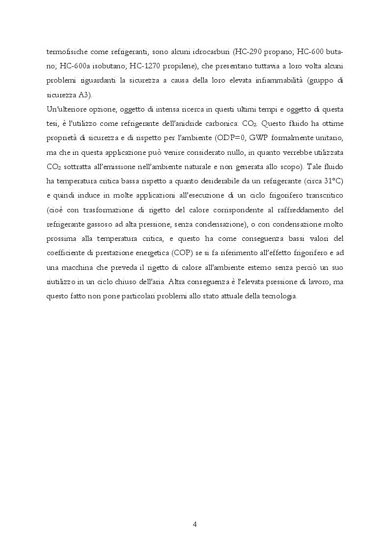 Anteprima della tesi: Analisi teorica e sperimentale di una pompa di calore ad anidride carbonica per asciugatrici domestiche, Pagina 5