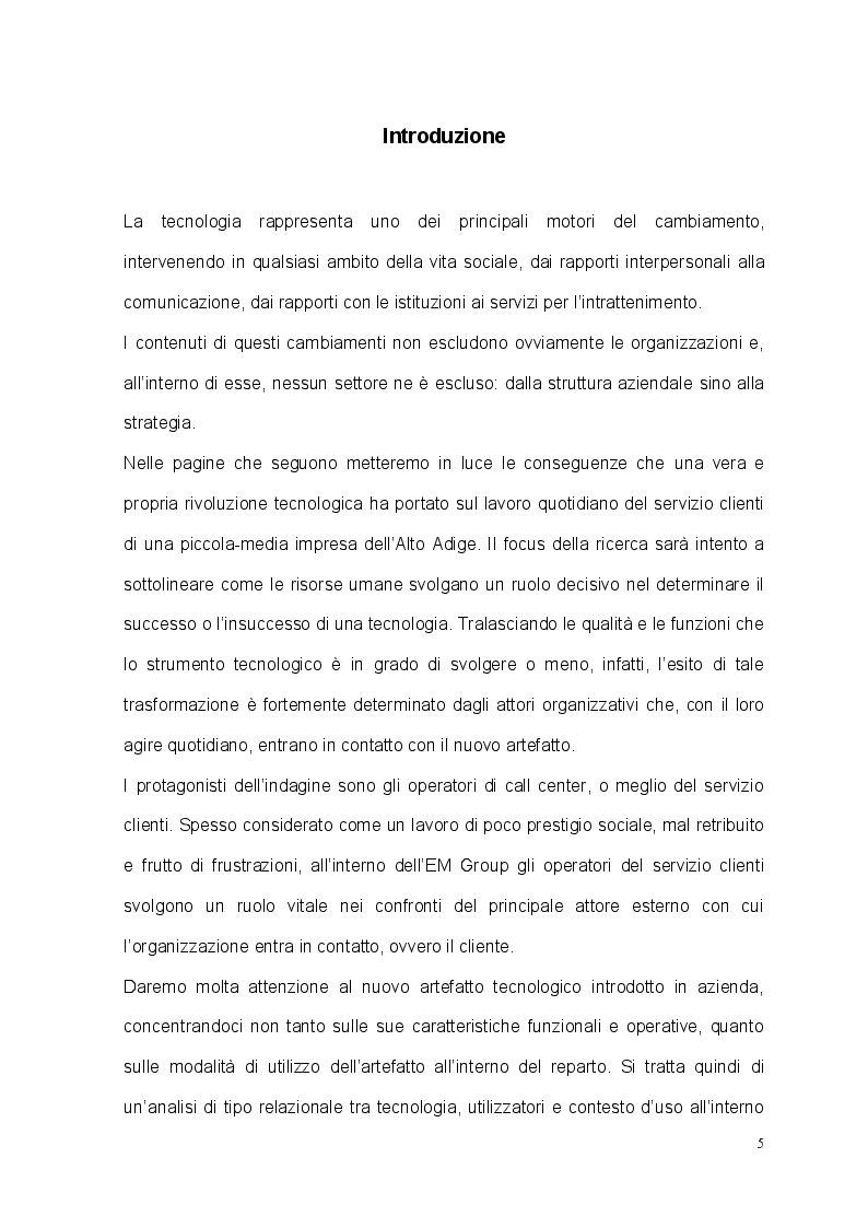 Anteprima della tesi: Tecnologia, organizzazione e lavoratori: il caso studio dell'EM Group, Pagina 2