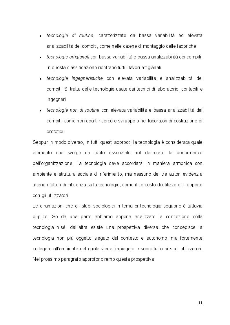 Anteprima della tesi: Tecnologia, organizzazione e lavoratori: il caso studio dell'EM Group, Pagina 8